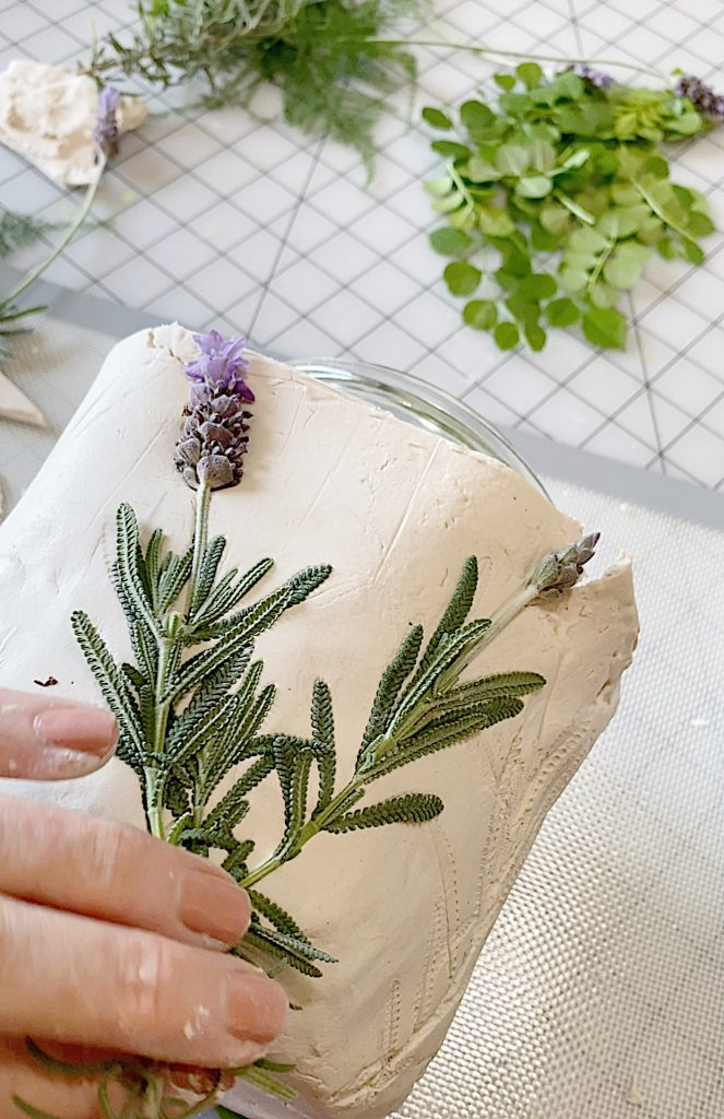 Lavender Highlights on the Paper clay Pot