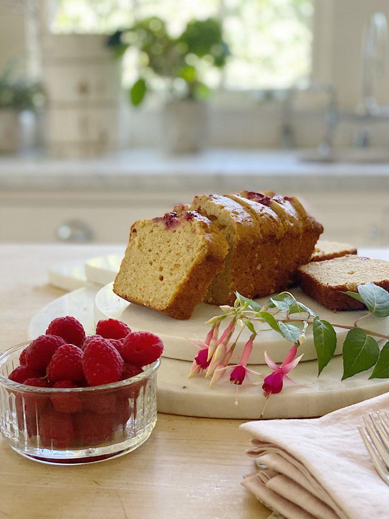 Lemon Bread with Raspberry Swirl