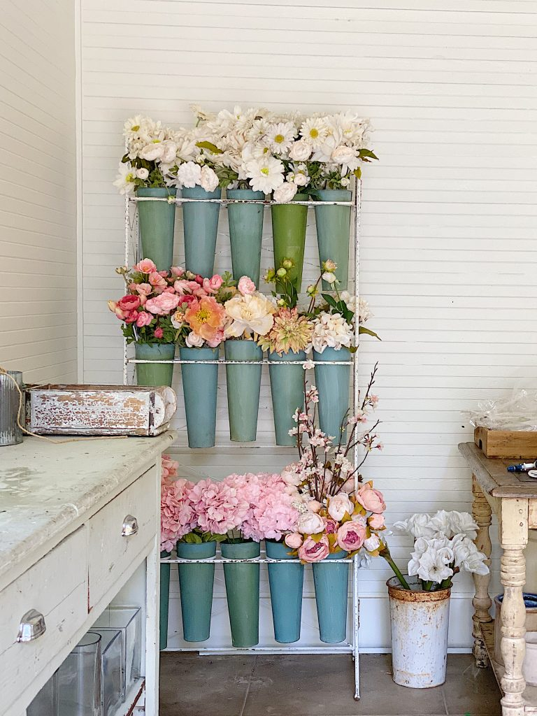 New Space for Faux Flowers