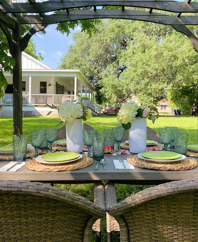 Outdoor Dining Party in the Backyard