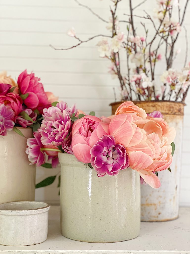 Peonies in the Carriage House