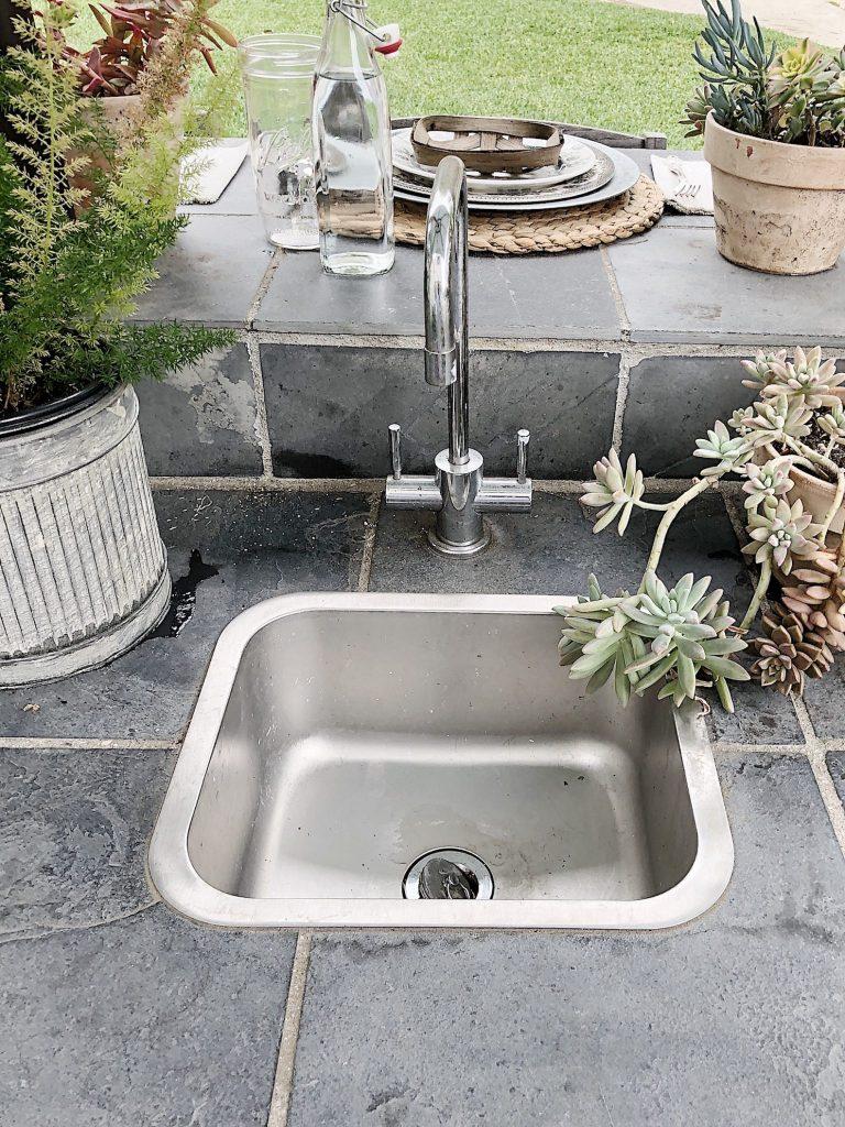 Sink in the Outdoor Kitchen