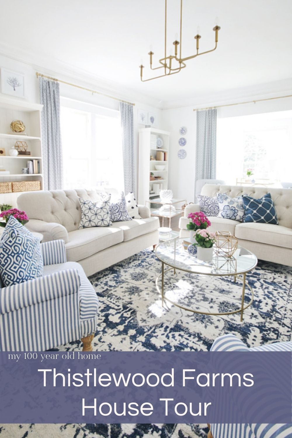 Today I am sharing an in-home house tour with KariAnne at Thistlewood! Her home is not only gorgeous but it is also amazing!