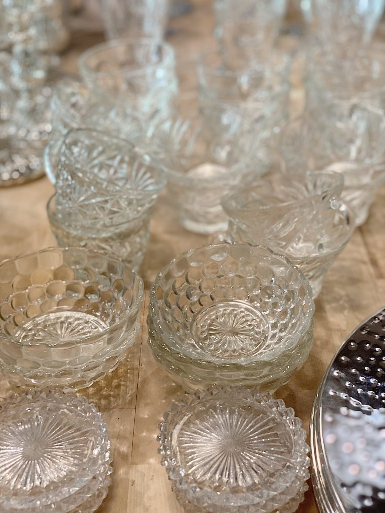 Vintage Glass Cups and Bowls