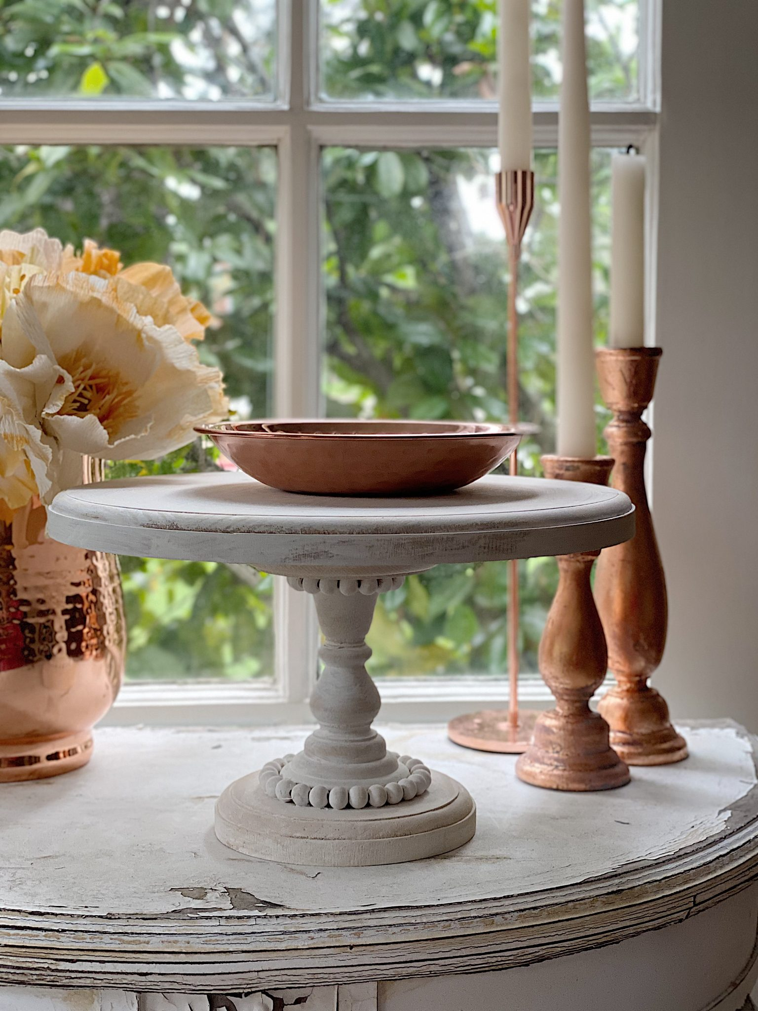 How to Make a Wood Cake Stand DIY by My 100 Year Old Home
