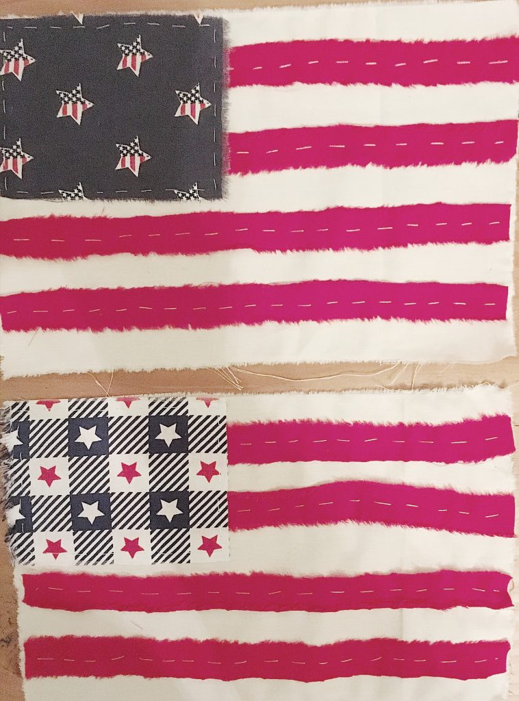 4th of July Flag Ideas Stitching the Flags