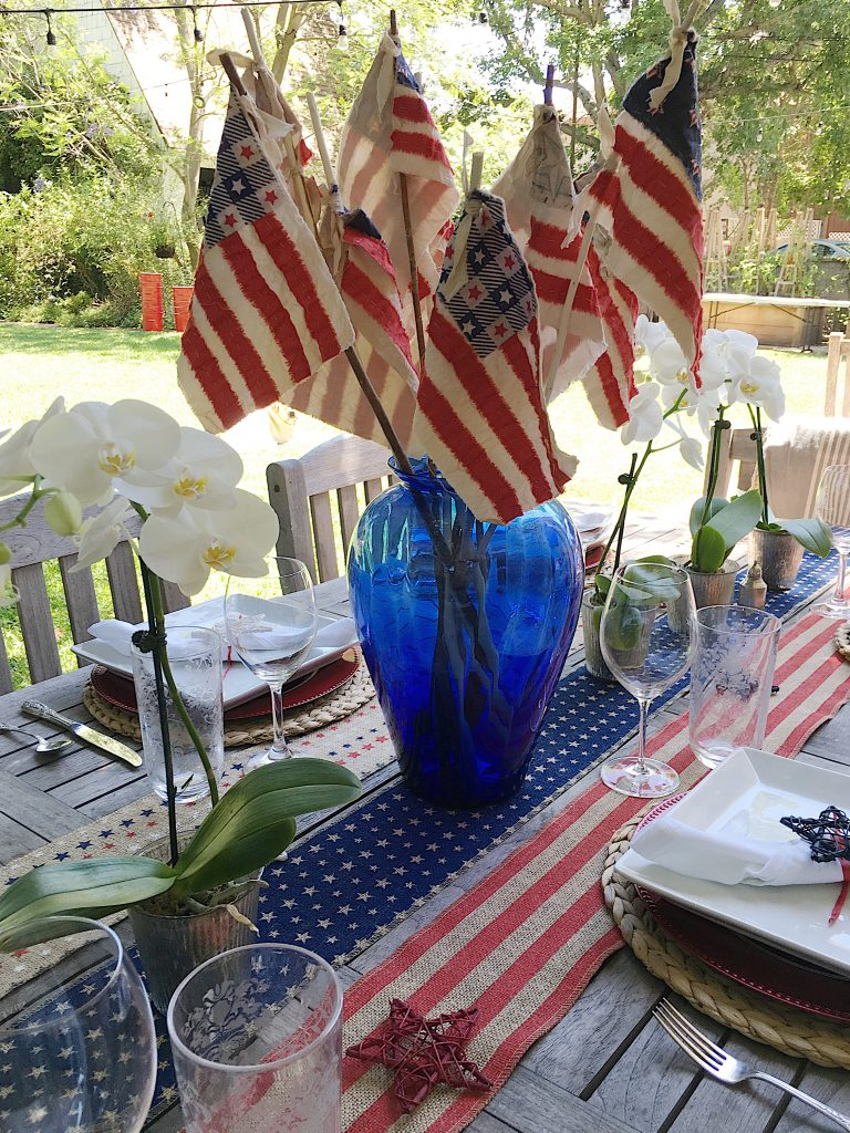 4th of July Flag and Table Ideas