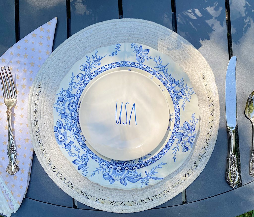 4th of July Patriotic Napkins and Placemats