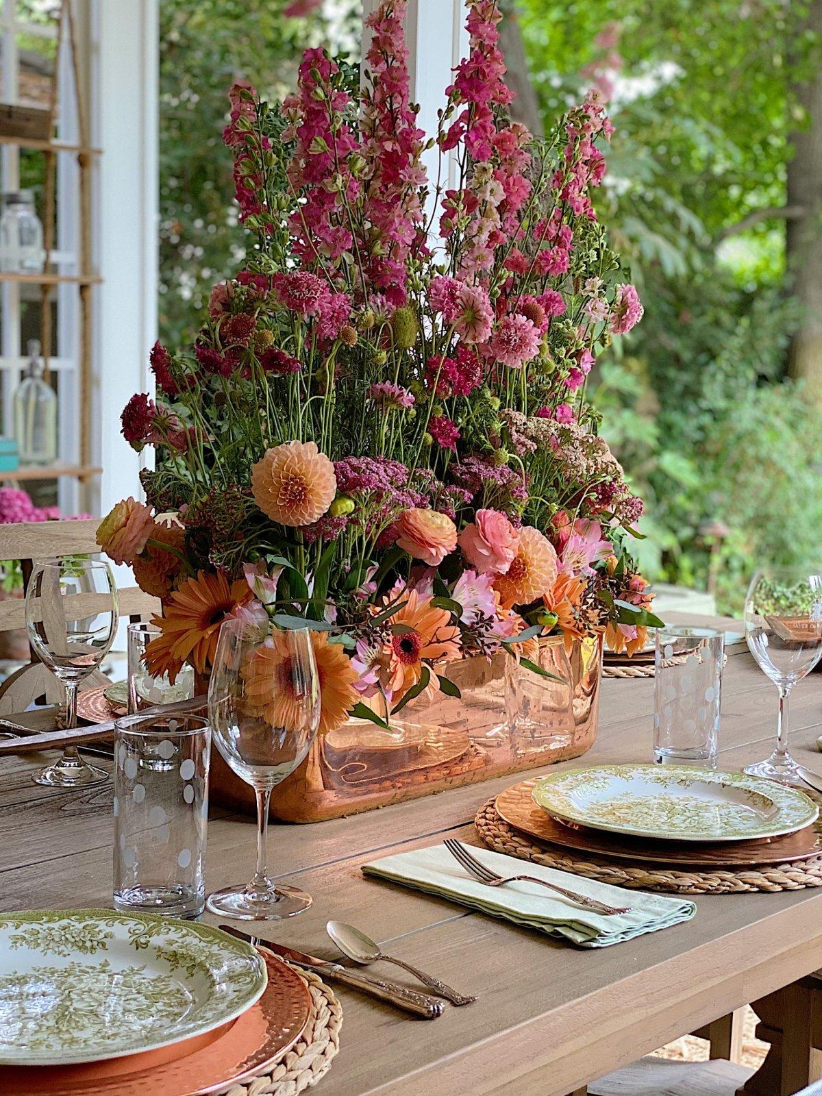 Back Porch Floral Entertaining Ideas