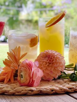 Cocktails in Summer Colors