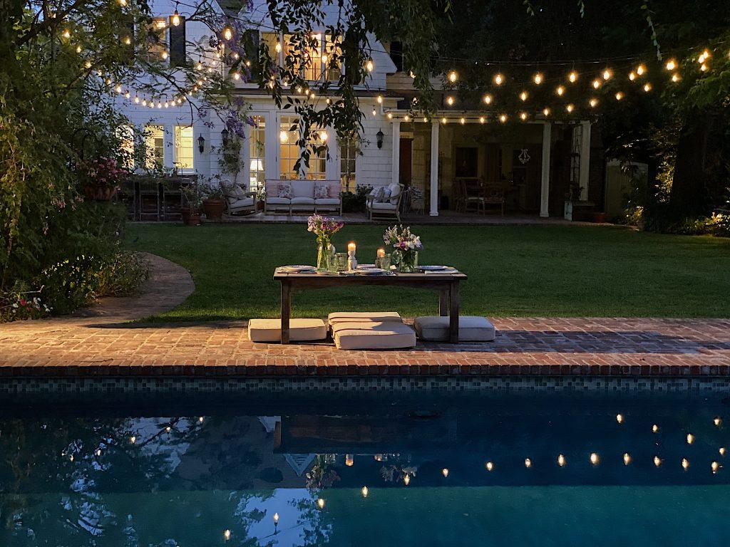Dinner Poolside