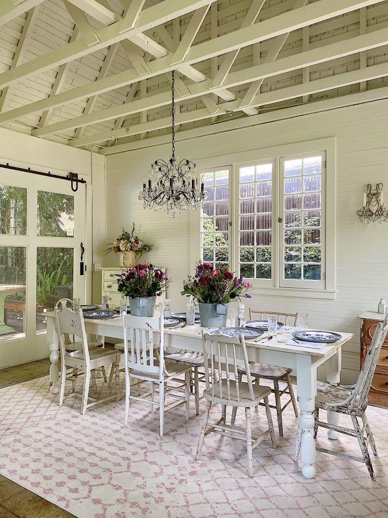 Farmhouse Dining Room in the Carriage House