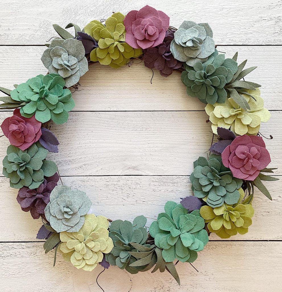Felt-Wreath-Colorful