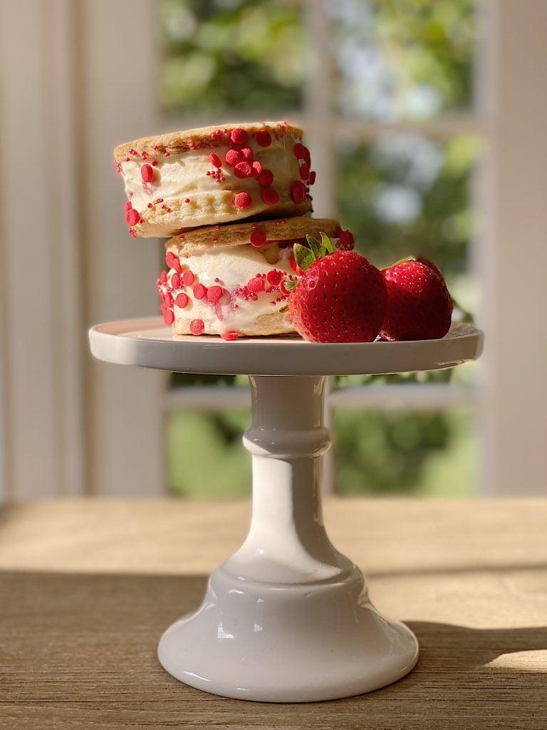 How to Make Strawberry Shortcake Ice Cream Sandwiches