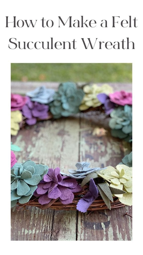 I love to make wreaths and this succulent wreath was a lot of fun. I am thrilled to share today how I made this felt lfowers wreath.