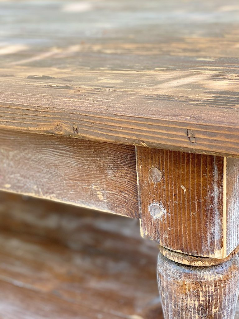 How to Refinish a Table Before Photo