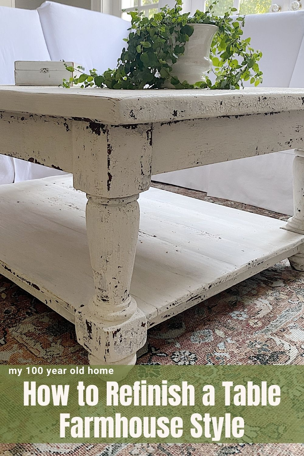 Our family has a long history with this coffee table. I am excited to share how to refinish a table while maintaining its character.