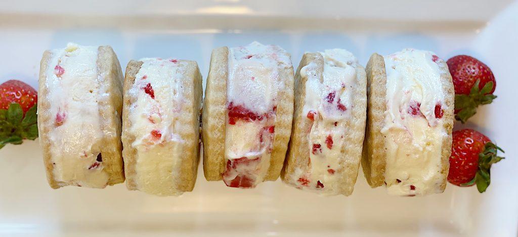 Make Strawberry Shortcake Ice Cream Sandwiches