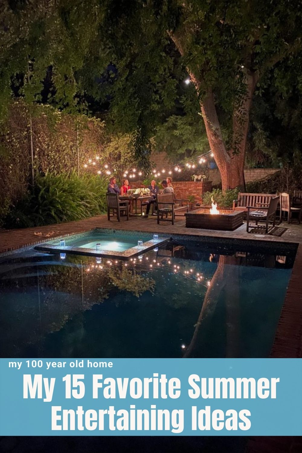 Now that we are in the midst of summer I thought it might be fun to share some of my favorite summer entertaining ideas. I hope these might inspire you to try some of my ideas.