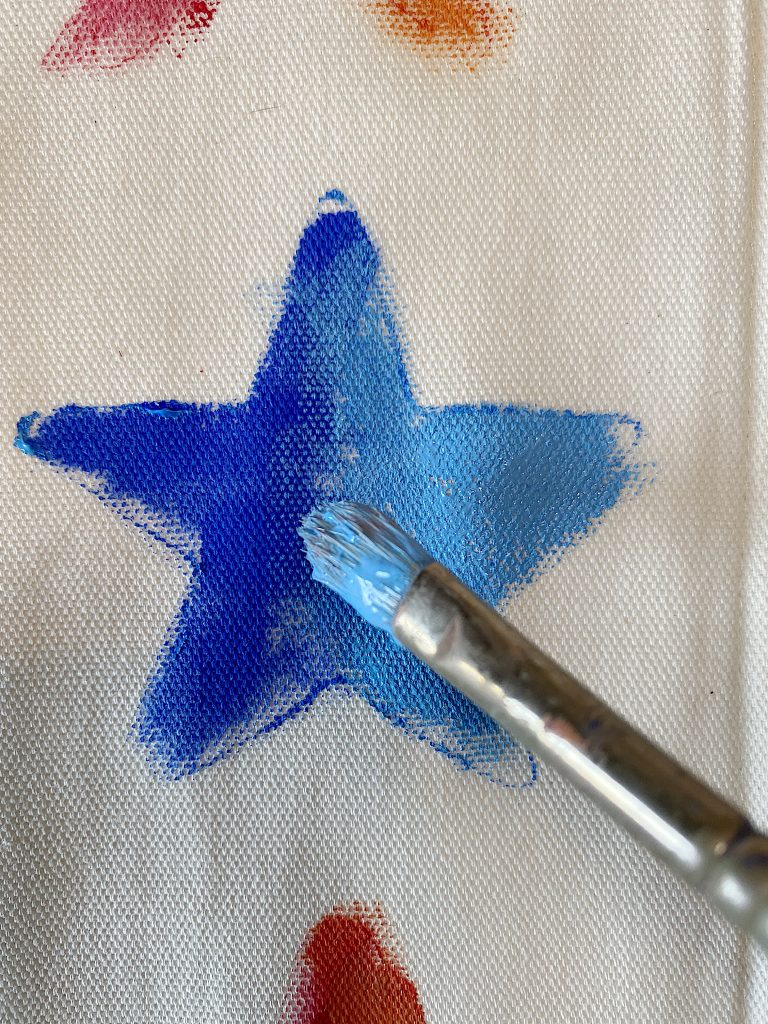 Painting the Star Pillow