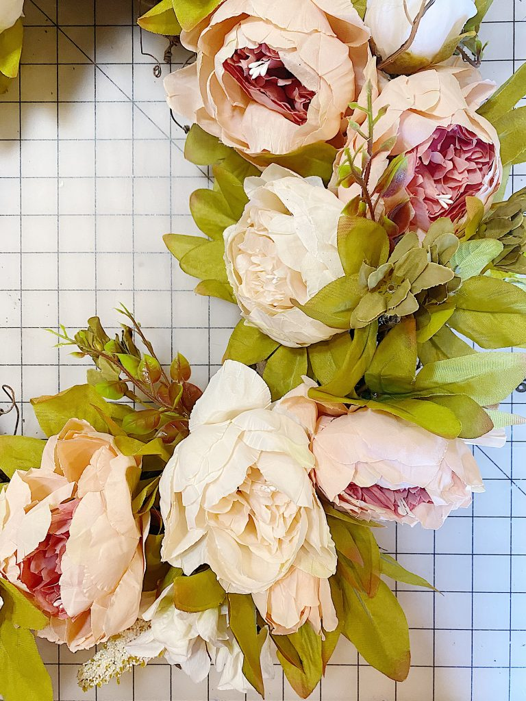 Peonies on a Floral Wreath