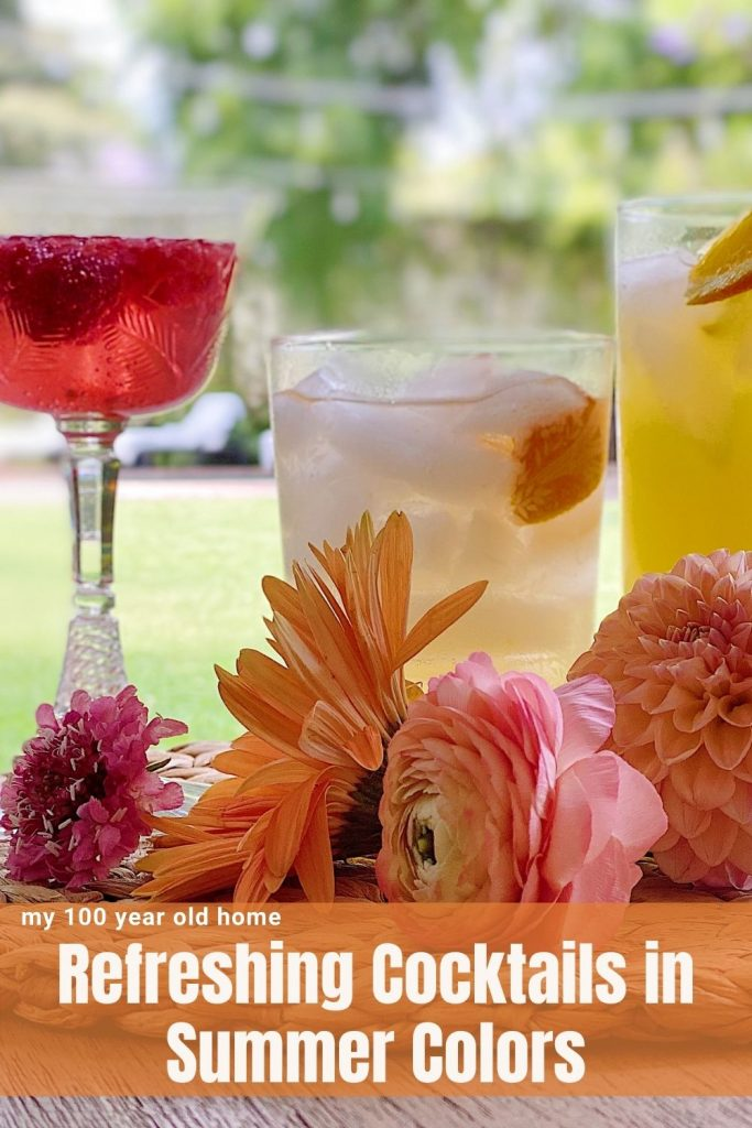 Refreshing Cocktails in Summer Colors