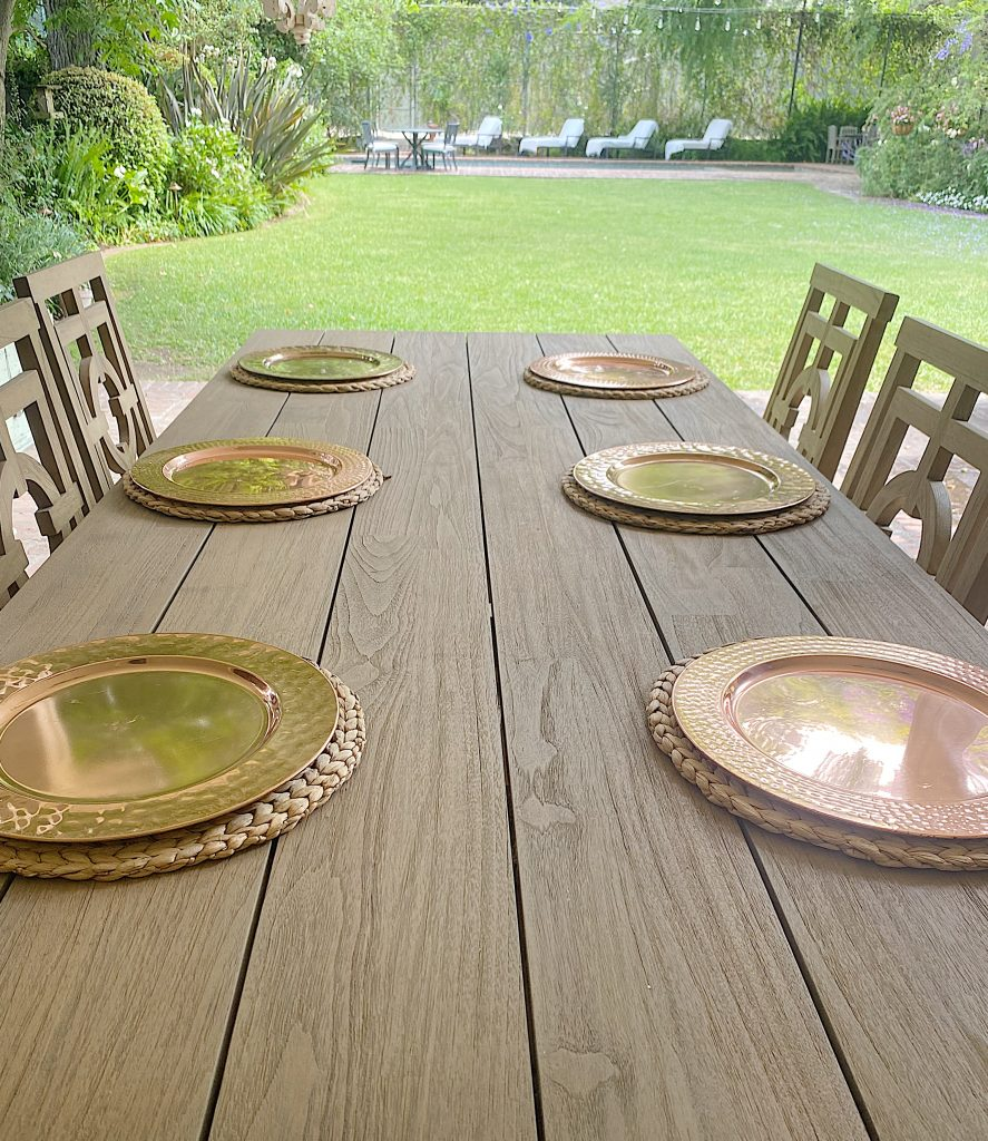 Setting the Table on the Back Porch