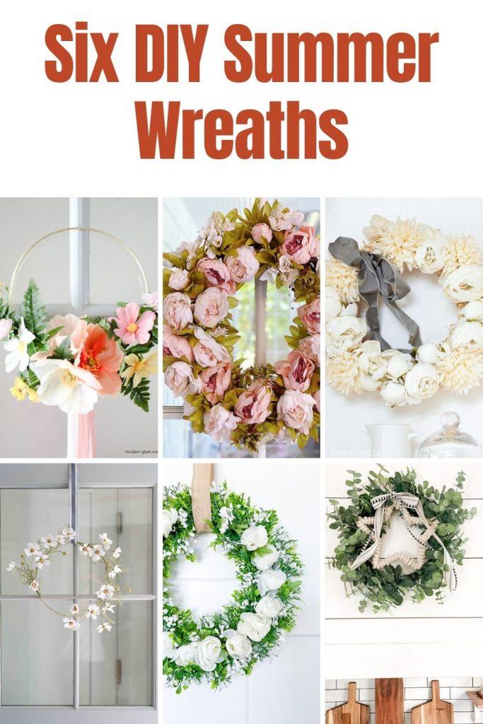 Six DIY Summer Wreaths