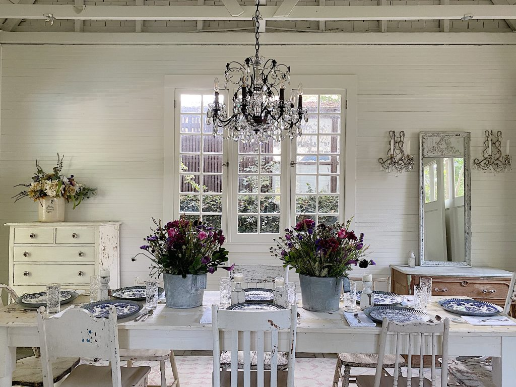Summer Entertaining and a Farmhouse Dining Room