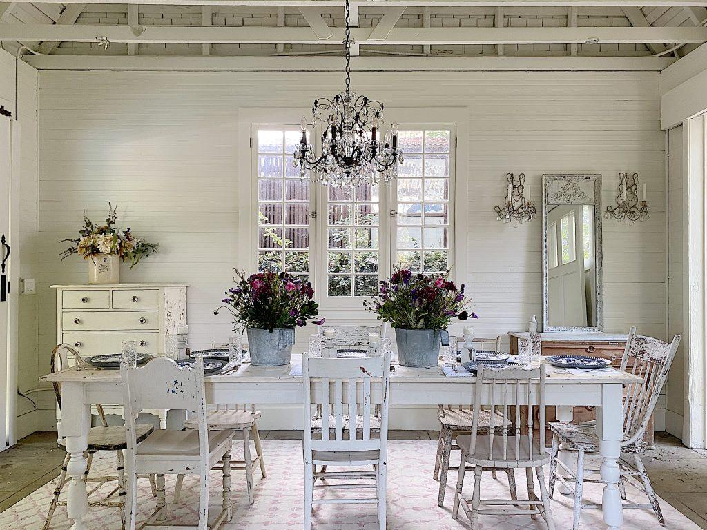 Summer Entertaining in a Farmhouse Dining Room