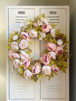 Summer Peony Wreath