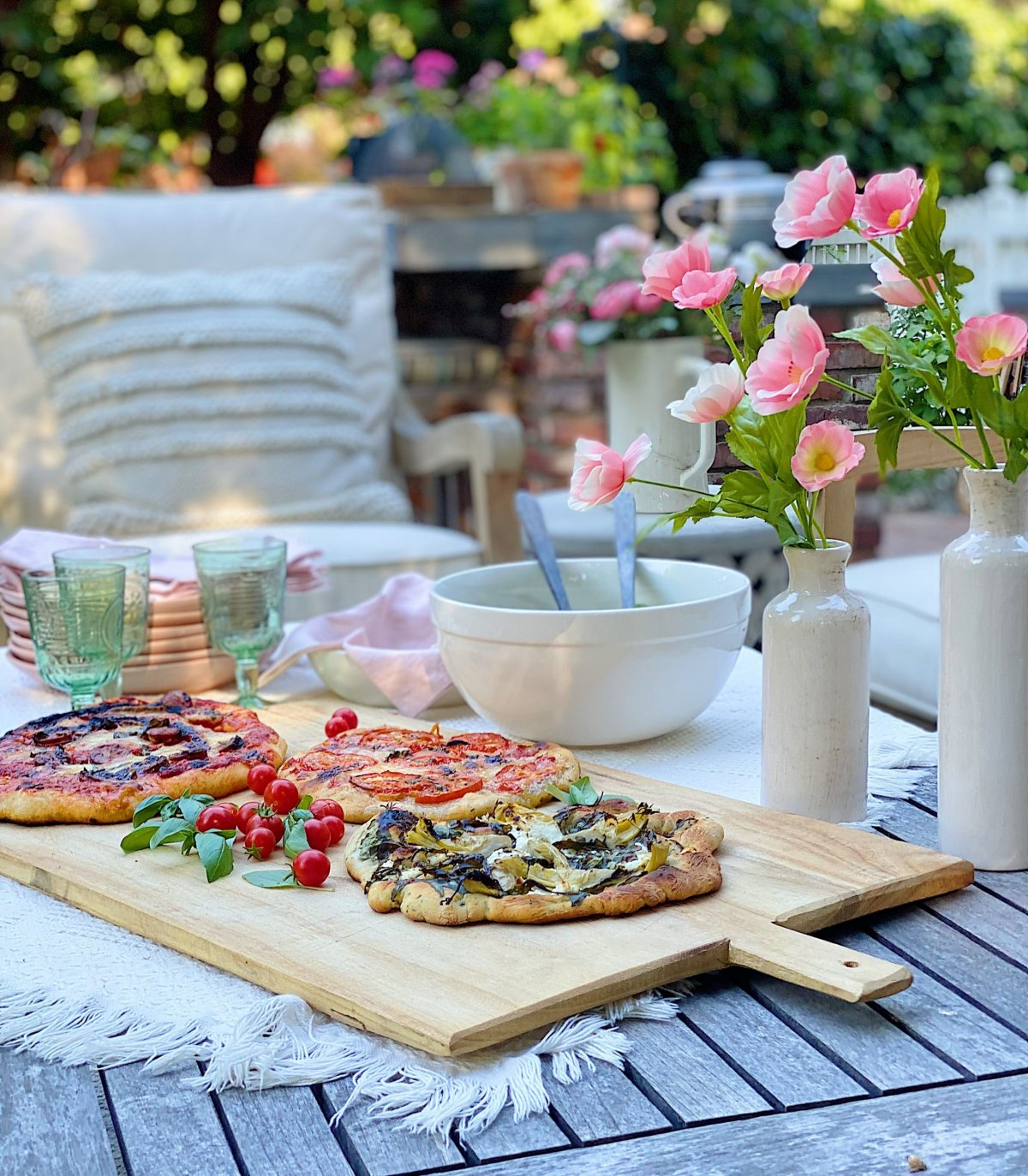 Summer Pizza Night on the Back Porch and Patio