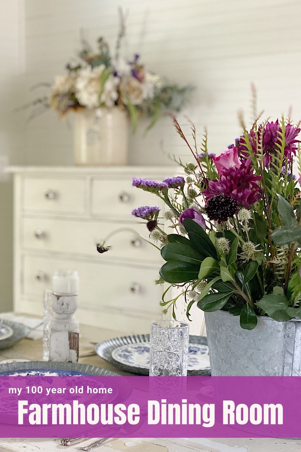 I am back to entertaining again and today I am setting up a fun party in our Carriage House. I love our farmhouse dining room and this new look!