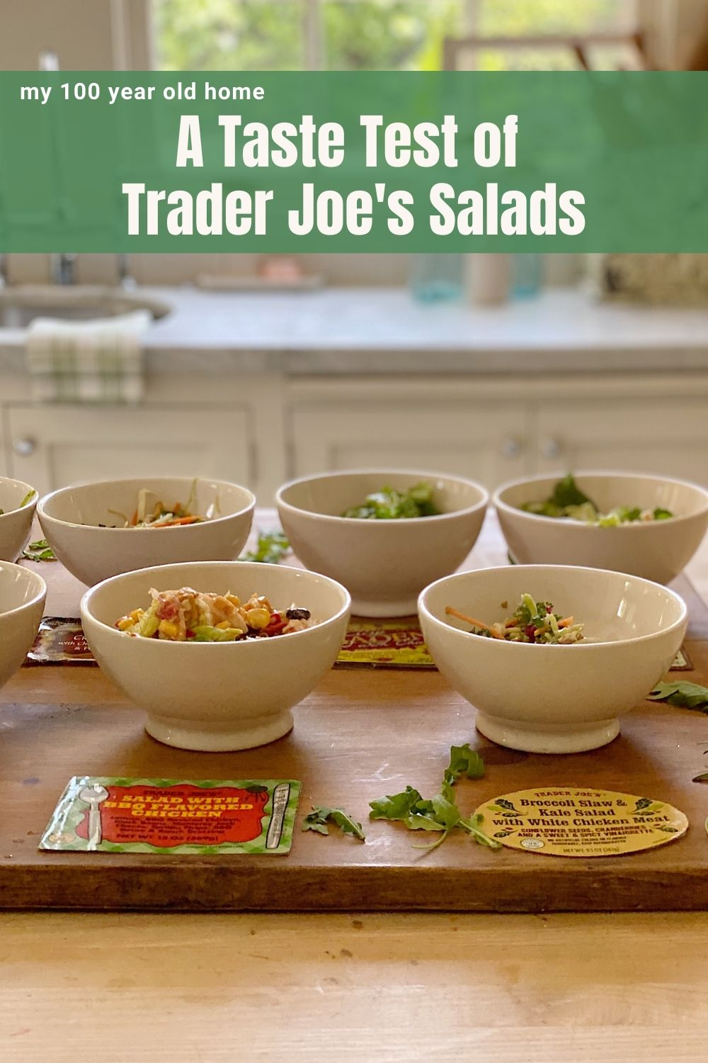 I must admit that I had eleven salads for lunch today. We did a taste test of eleven Trader Joe's Salads and I can't wait to share our finds!