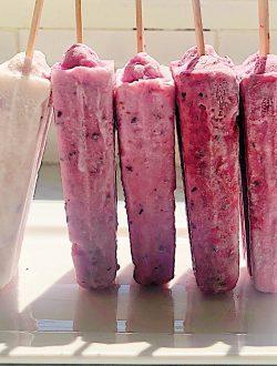 Berry Coconut Popsicles