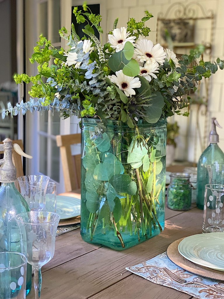 Outdoor Dining and Fresh Flowers