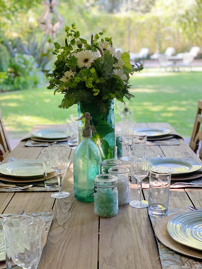 Outdoor Dining and Setting a Table