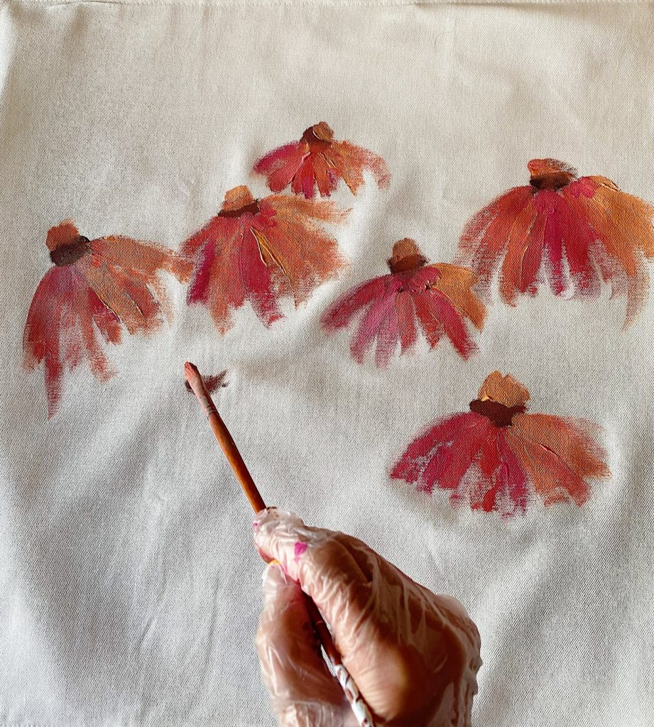 Painting the Summer Flower Pillow