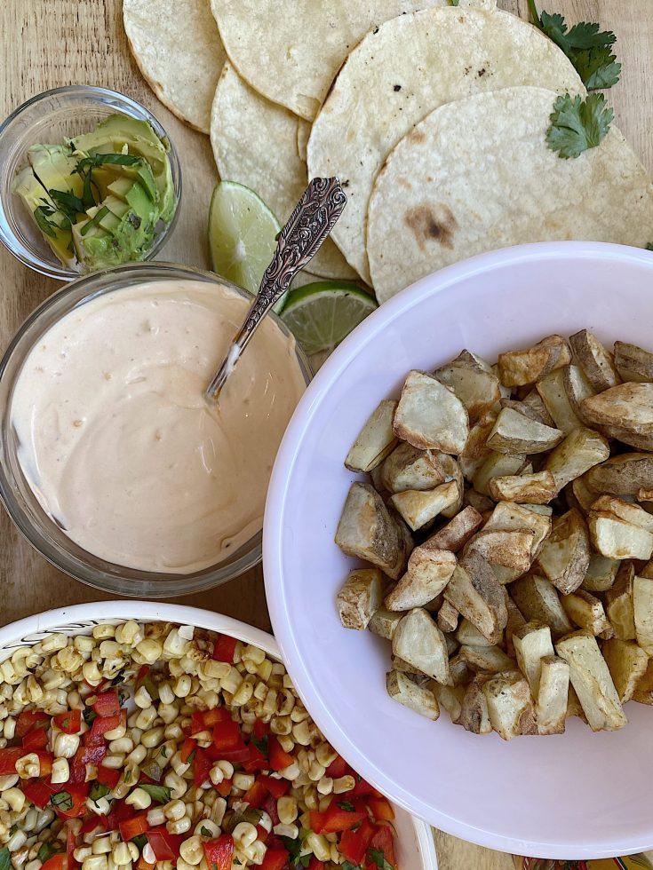 Potato Veggie Tacos