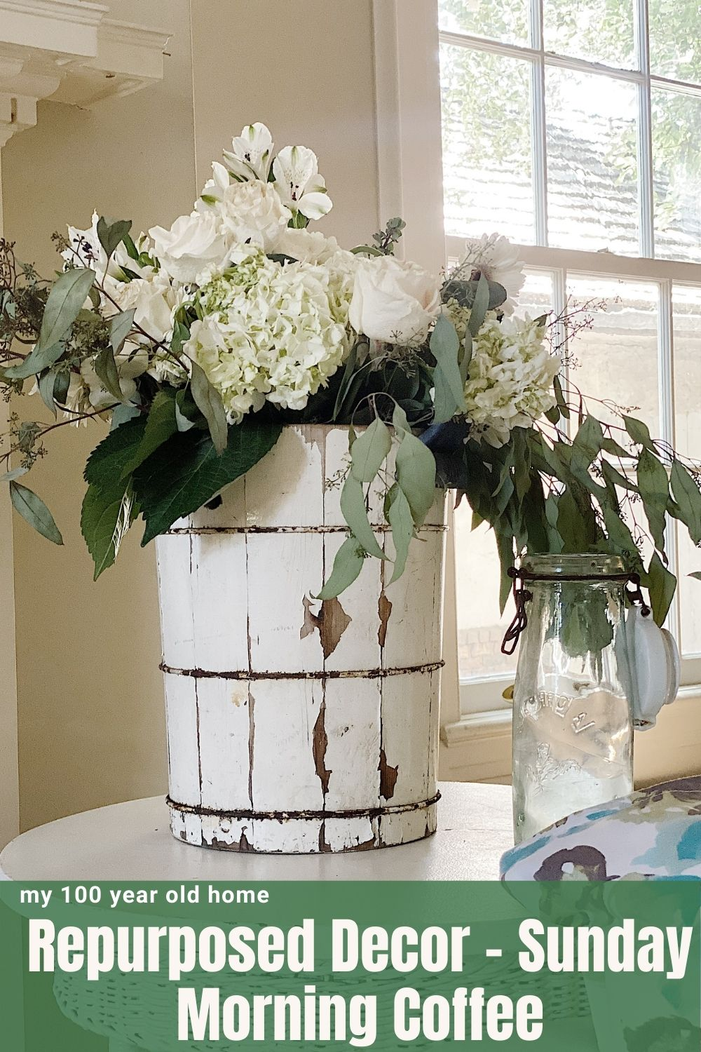 One of my favorite things is repurposed vintage items. This week, I am excited to share how I repurposed vintage and new decor items for use as flower vases.
