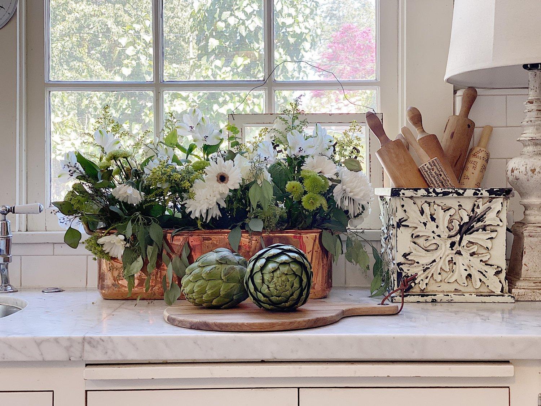 Repurposed Decor in the Kitchen