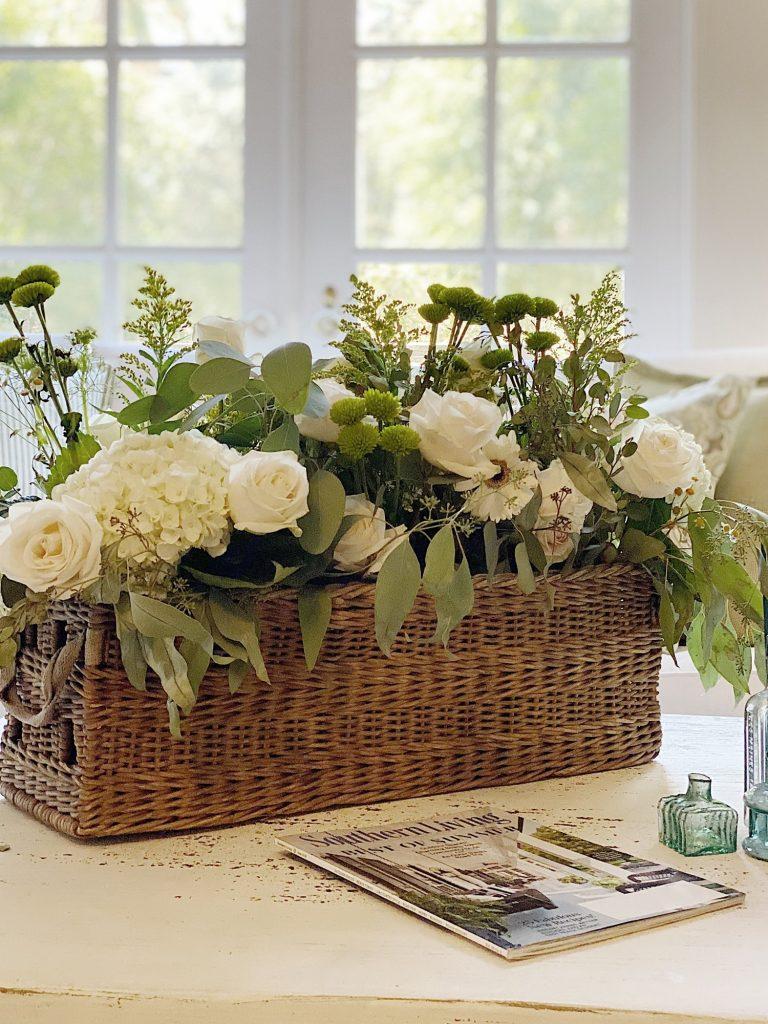 Repurposed Vintage Decor Basket