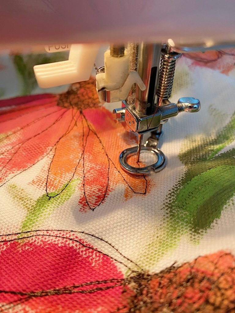 Sewing the Summer Flower Pillow