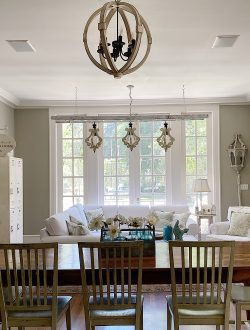 Summer Color Palette in the Family Room