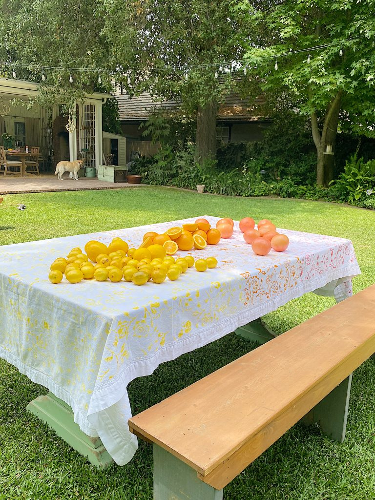 Summer Colors Citrus Tablecloth DIY