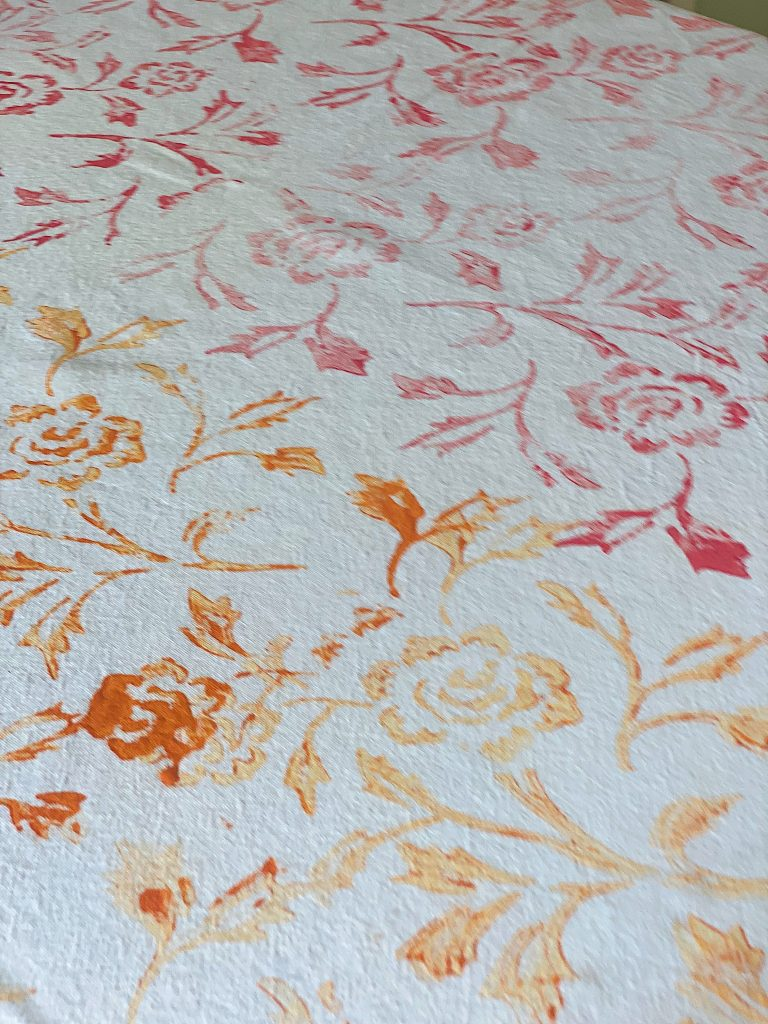Summer Colors Painted Tablecloth DIY