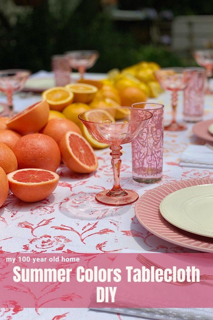Summer Colors Tablecloth DIY