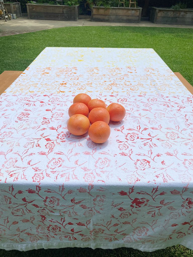 Summer Colors Tablecloth DIY with Grapefruit