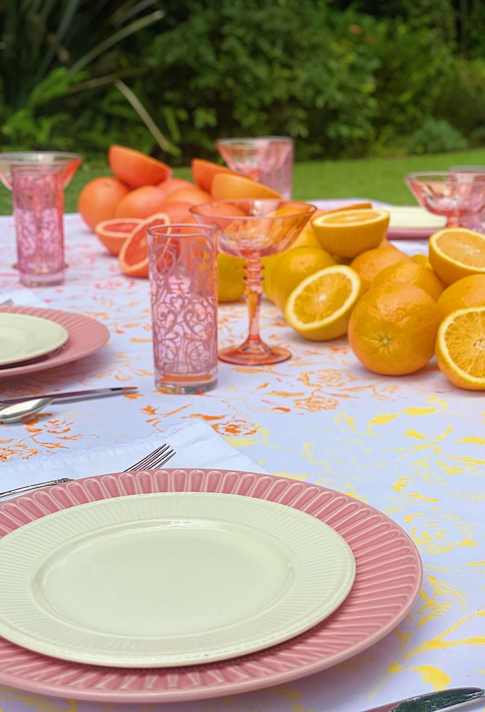 Summer Colors Tablecloth and Table