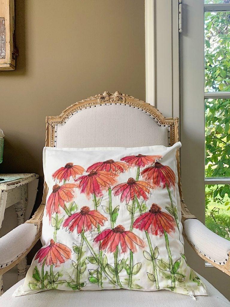 Summer Flower Pillow